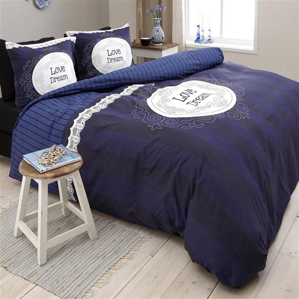Dekbedovertrek Dreamhouse Bedding Love of Dream Navy