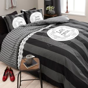 Dekbedovertrek Dreamhouse Bedding Love of Dream Anthracite