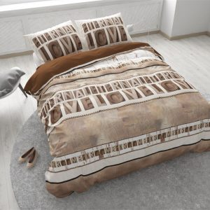 Dekbedovertrek Sleeptime Solid Cotton Eternal Love Taupe