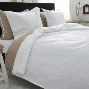 Bedsprei Sleeptime Clara White