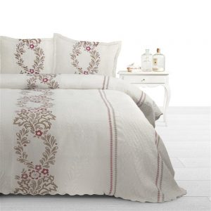 Bedsprei Fancy Embroidery Yolanda Crème