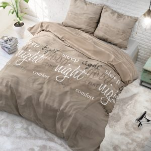 Dekbedovertrek Sleeptime Flanel Comfort Night Taupe