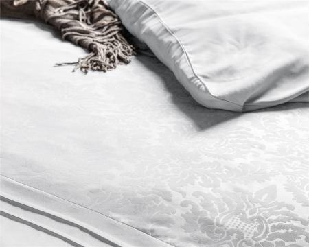 Dekbedovertrek Fancy Embroidery Brussel Cotton Wit