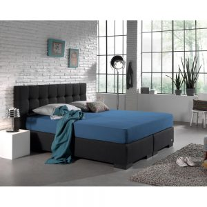 Hoeslaken, Home Care, Boxspring, Dubbel Jersey, Blauw