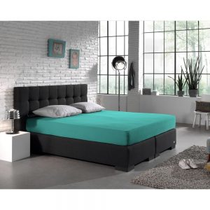 Hoeslaken, Home Care, Boxspring, Dubbel Jersey, Turquoise